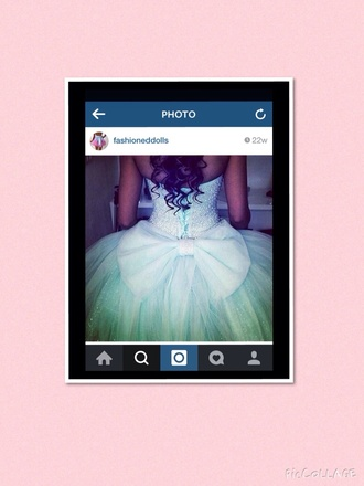 dress green dress with massive bow 💖 light blue bows sparkly