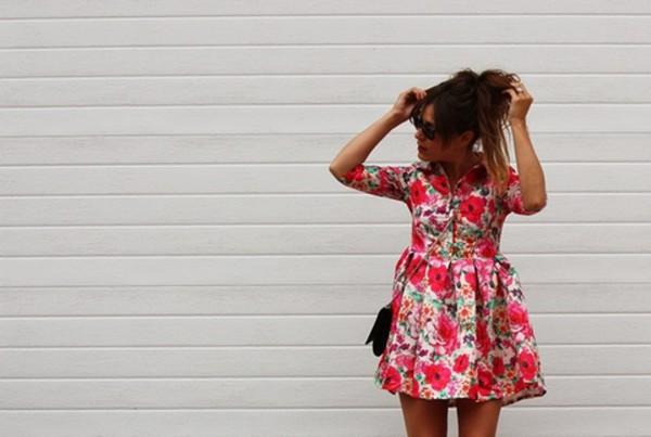 dress floral dress pink dress