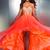 Bright Orange Hi Lo Organza Senior Prom Evening Formal Dress Bridal Wedding Gown | eBay