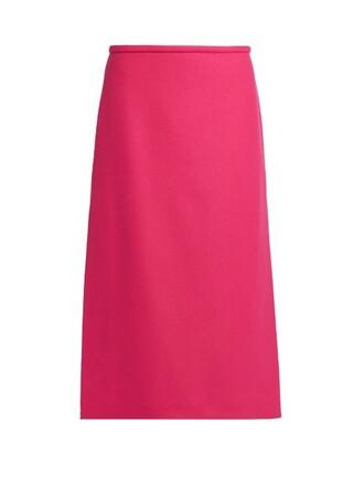 skirt midi skirt midi wool pink