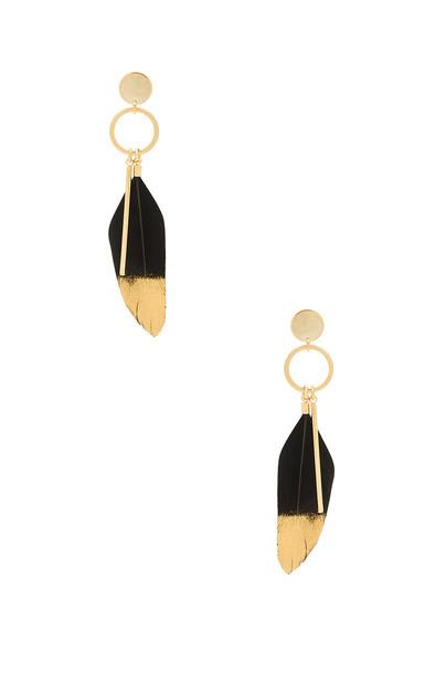 WANDERLUST + CO earrings metallic gold jewels