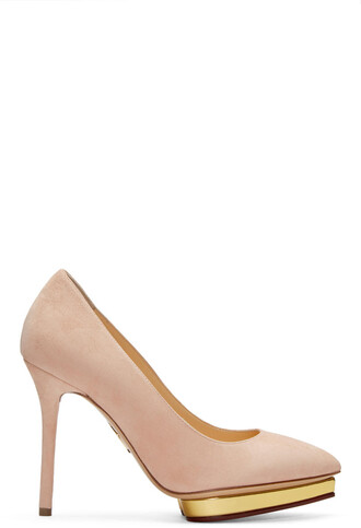 heels suede pink shoes