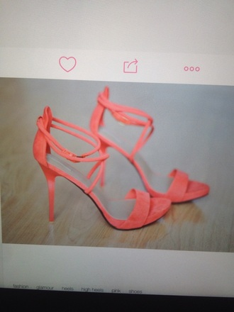 shoes high heels coral shoes cute high heels weheartit