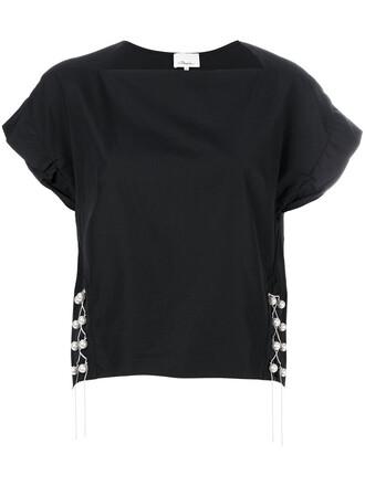 top women pearl cotton black