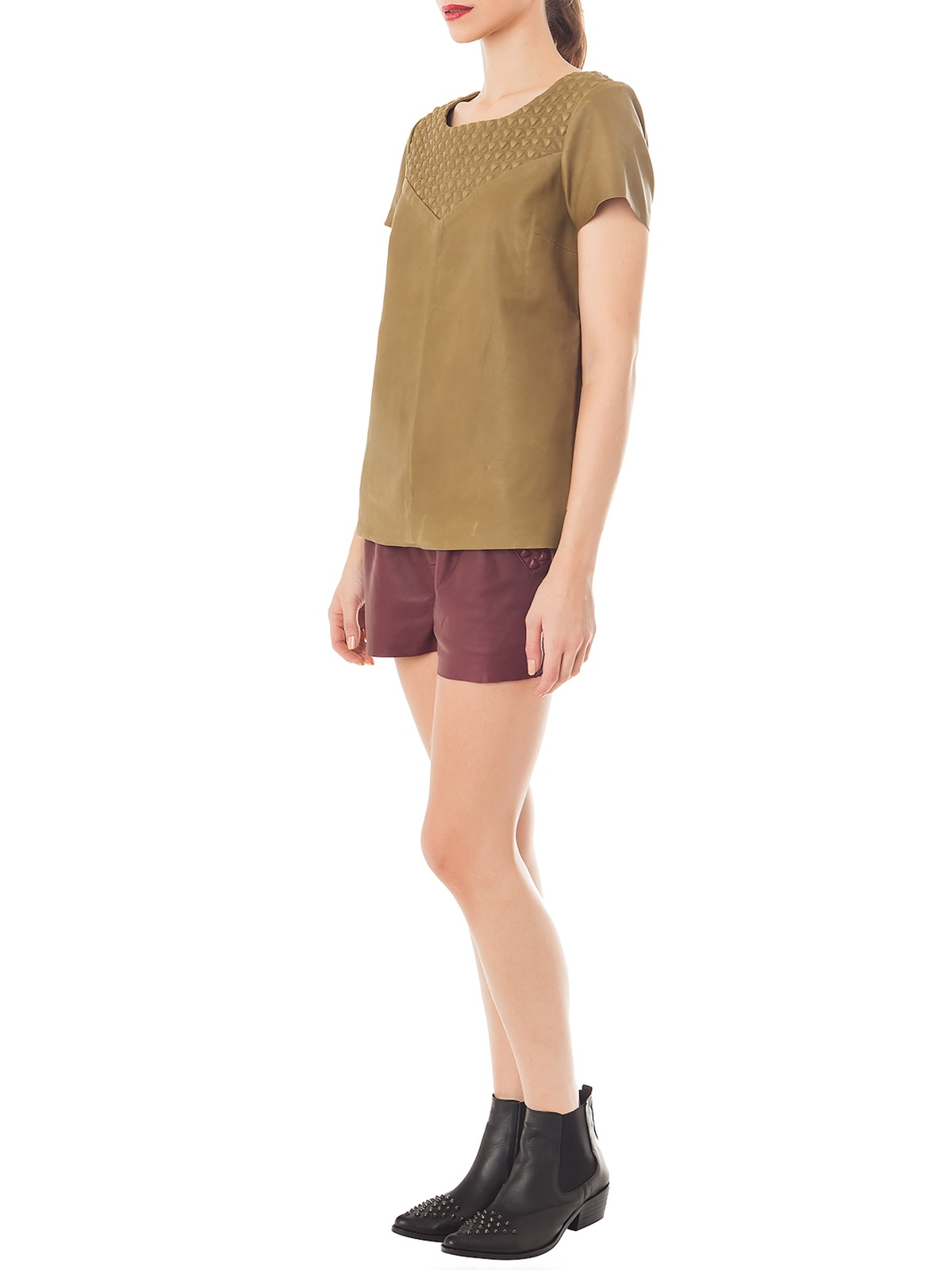SERENDIPITY BURGUNDY SHORTS | GIRISSIMA.COM - Collectible fashion to love and to last