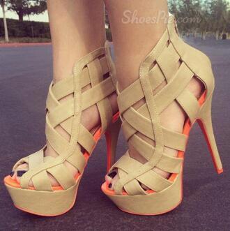 shoes sneakers heels brown orange pink boho bohemian cute love nice vogue chanel vintage