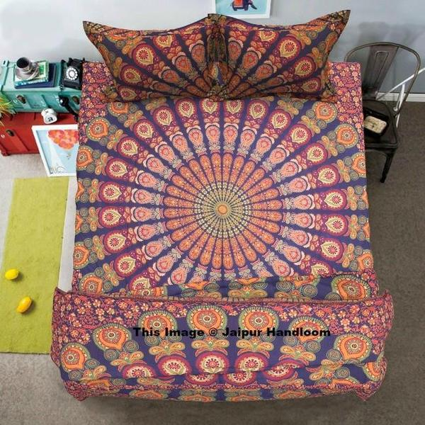 Mandala Indian Duvet Doona Cover Throw Cotton Quilt Blanket Cover With Bedspread