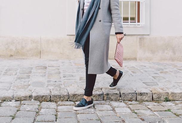 dariadaria blogger bag scarf jewels grey coat pouch studs vans
