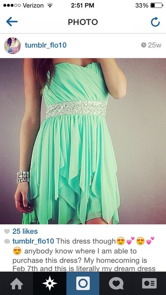homecoming dresses homecoming homecoming dress blue green short strapless Belt