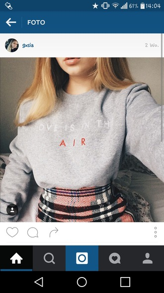 sweater grey sweater grey love tumblr long-sleeves pullover