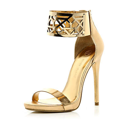 metal cuff barely there sandals - heels - shoes / boots - women