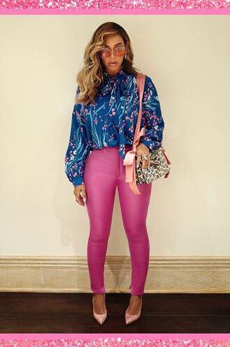 blouse top shirt pants beyonce instagram pink