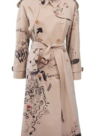 coat trench coat print