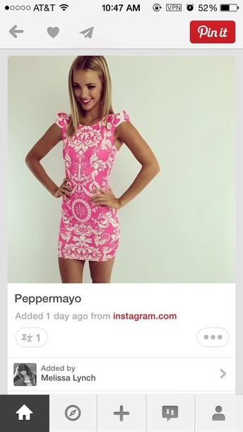 dress pink classy tropical
