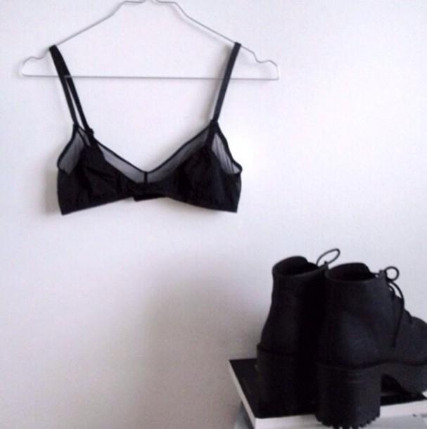 shoes black booties boots lace up heel platform shoes black boots tumblr underwear