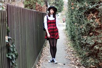 mes memos blogger dress hat flannel converse