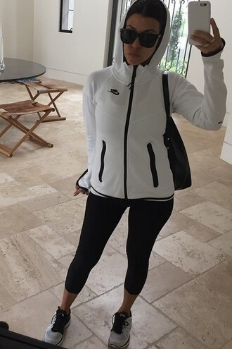 jacket sweatshirt hoodie kourtney kardashian instagram sportswear sneakers