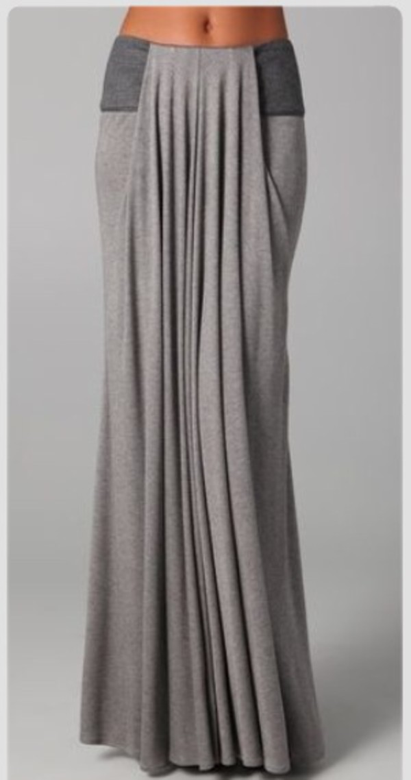 skirt maxi colorblock drape