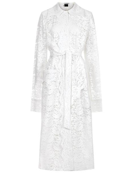 Litkovskaya coat trench coat lace white white lace
