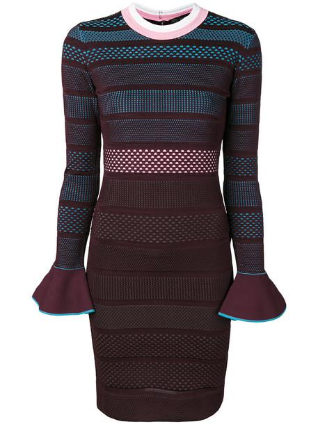 VERSACE dress striped dress women purple pink