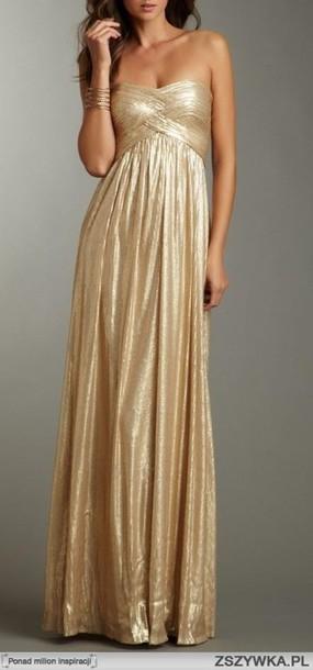 dress gold maxi