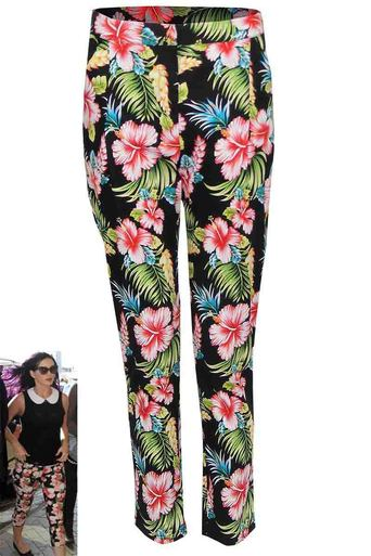 Zelda Black Floral Chino - Pop Couture