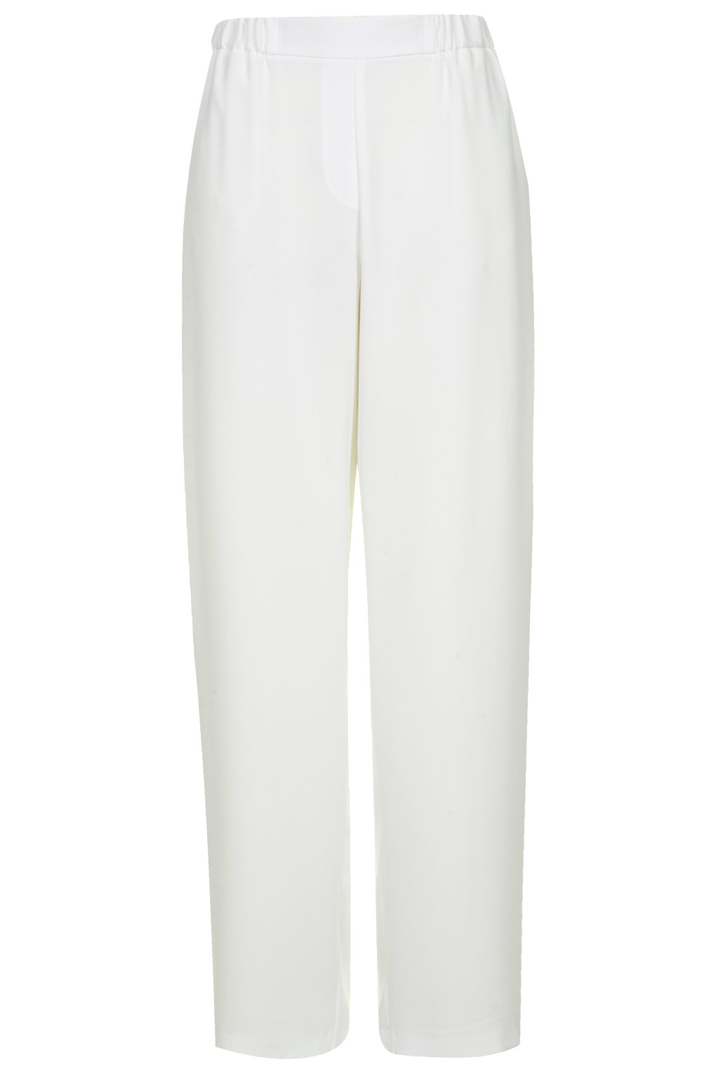 Paperbag wide leg trousers