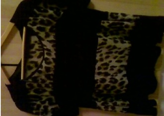 blouse leopard print black stripes leopard blouse
