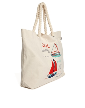 Talented Totes | Talented Totes Sail Away With Me Shopper Bag at ASOS
