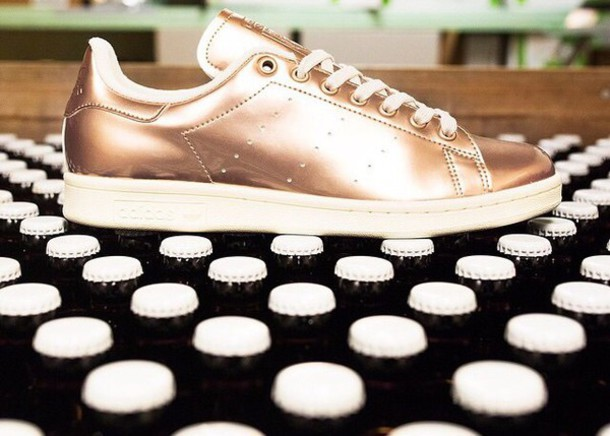 buy popular 0ca27 6cb1a Adidas Shoes Stan Smith Rose Gold