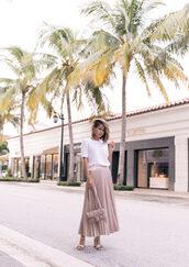 skirt,blogger,blogger style,midi skirt,pleated skirt,shoulder bag,sweater,gucci bag,sandals