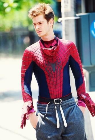 joggers sweatpants andrew garfield spider-man menswear halloween costume costume