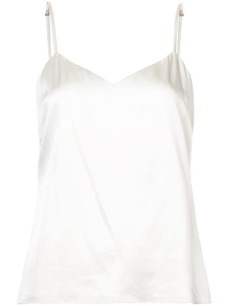 Sally LaPointe vest women spandex white silk jacket
