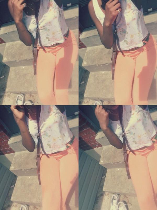 jeans orange kapri summer colors .