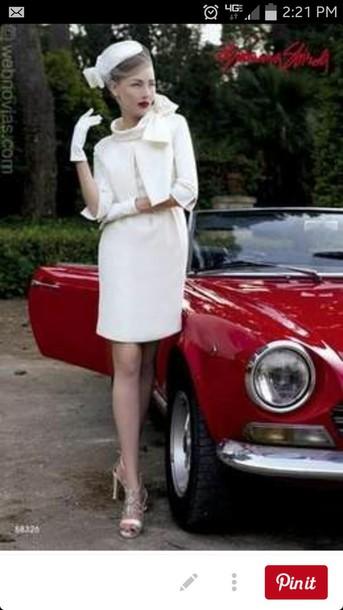 dress white wedding dress 50s style