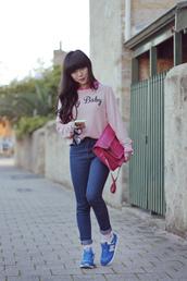 pale division,sweater,shirt,jeans,bag,shoes