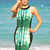Multi Floral Dress - Green and Black Printed Bodycon | UsTrendy