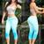 Turquoise Blue Capri Pants 7353 | Yallure