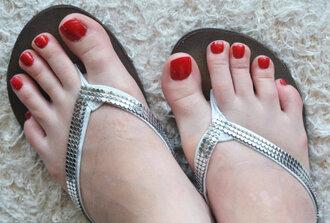 shoes flip-flops bridesmaid rhinestones clera crystal wedges platform sandals summer bridal sandals beach sandals wedding