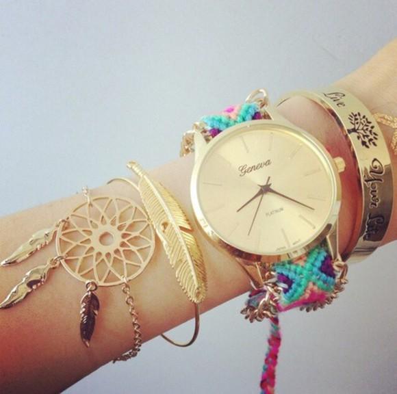 feathers jewels bracelets