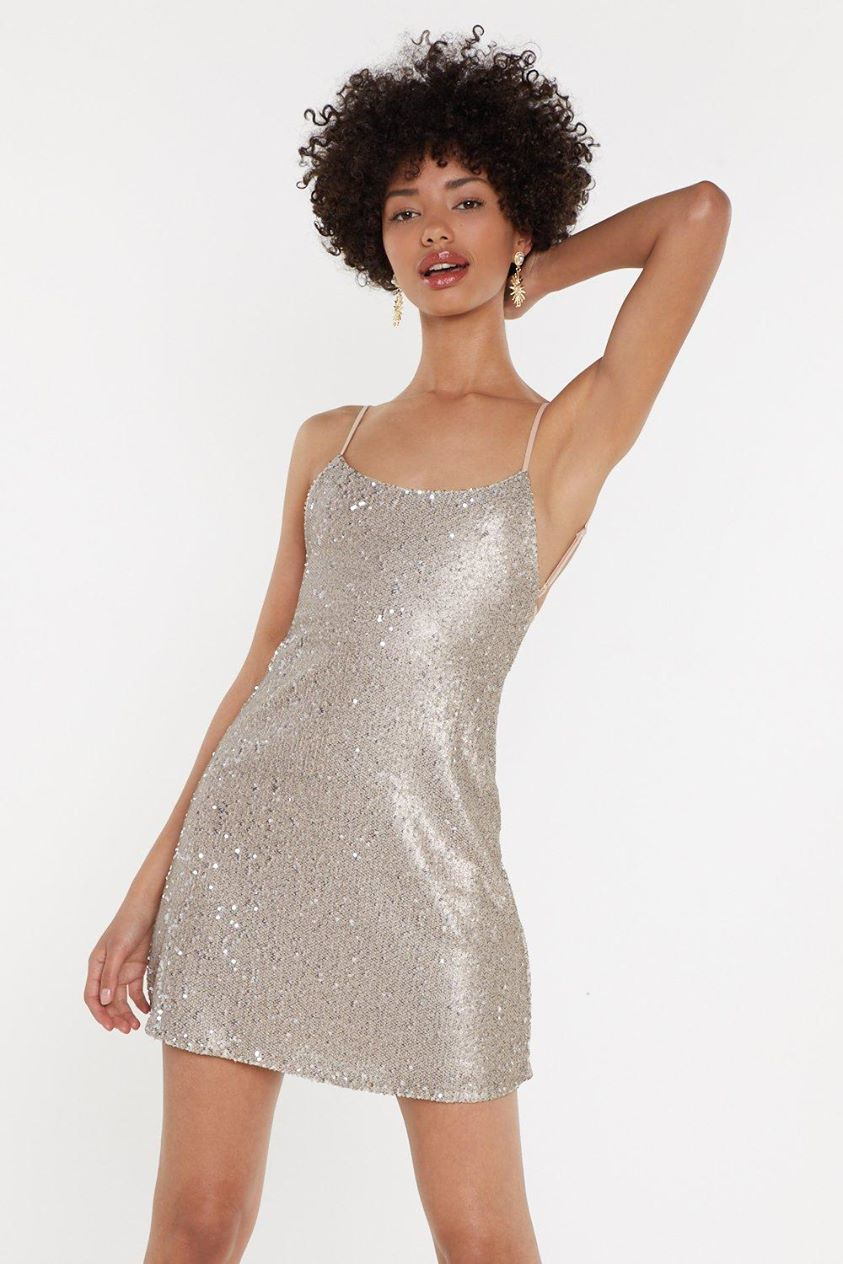 Disco's Out to You Sequin Mini Dress