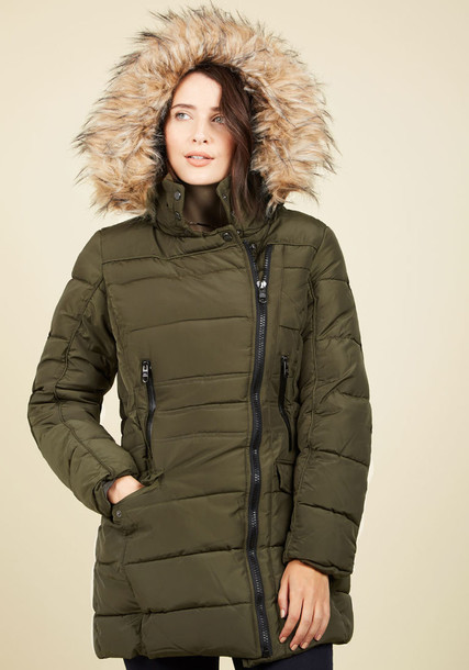 OLA632MC7 coat parka green coat high urban green olive green