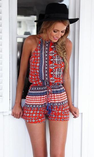 romper style fashion trendy beach summer dress red dress blue dress black dress