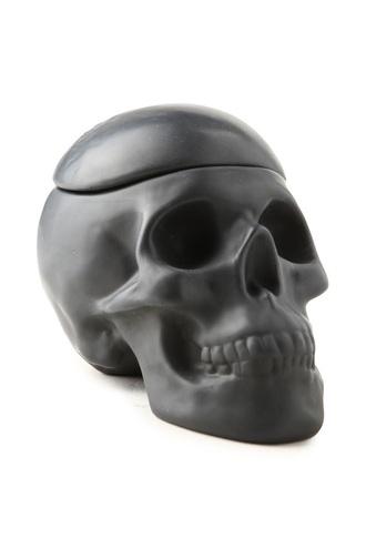 home accessory black skull jar storage cookie make-up halloween decor