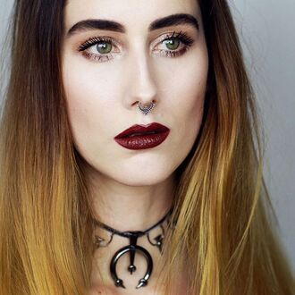 jewels shop dixi choker necklace crescent moon grunge goth necklace