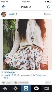 skirt,floral,sweater,jewels,floral skirt,shirt,cute,white,dress,knitted sweater,jumper,knitwear,cream,necklace,flowers,hippie,pretty,flower skirt,cute skirt,floral prints,gold,gold necklace,swester,oversized sweater,lovely,spring,spring trends,owl necklace,vintage,wihte,owl chain,skater skirt,jeans,clothes,crochet,girly,hipster,tumblr sweater,tumblr outfit,cute outfits,cute sweaters,winter sweater,fall outfits,boots,white floral skirt,knit,loose,baggy,casual,soft,comfy,pintrest,so,winter outfits,white skirt,red floral,cardigan,floral skater skirt,blouse,sommer,colorful,floral dress,white dress,indie,cute white skirt with roses
