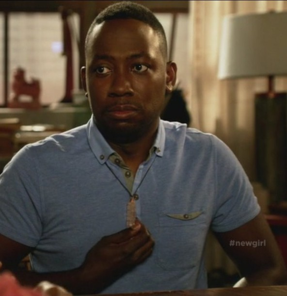 t-shirt polo t-shirt winston bishop new girl lamorne morris mens polo
