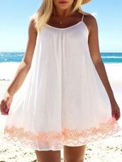 dress,shift dress,ustrendy,white