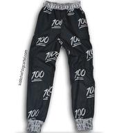 pants,female/male,100,sweatpants,kiddchief,emoji print,emoji pants