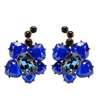 crystal earrings earrings blue jewels